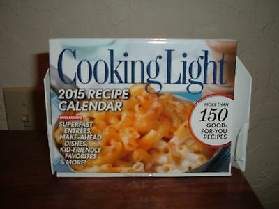 "New Cooking Light 2015 Good For You 150 Recipe Calendar 4"" x 6"" Recipe Cards"