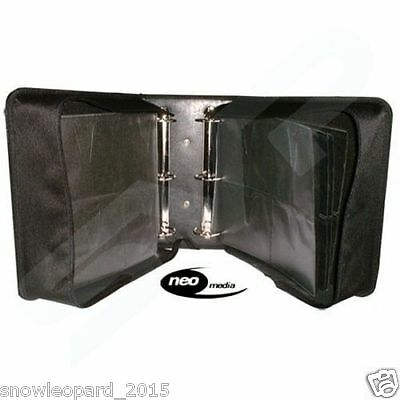 500 SLEEVE CD DVD BLU RAY DISC CARRY CASE Ring Binder Holder Bag Wallet Storage