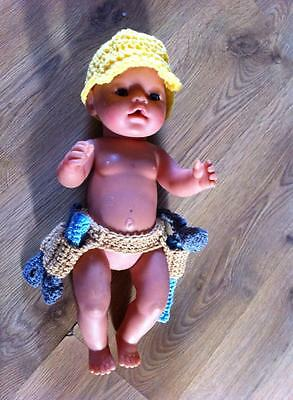 crochet baby tool belt tools construction hard hat photo photography props