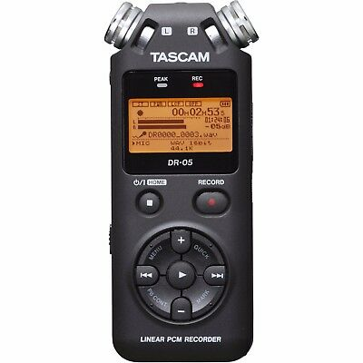 Tascam DR05 V2 Portable Handheld Electronic Digital Recorder PCM Hand Held DR-05