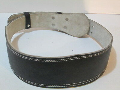 Back support belt weight lifting belt leather