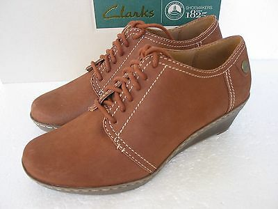 NEW CLARKS SOFT Wear Capricorn Air Wedge Shoes Various Sizes