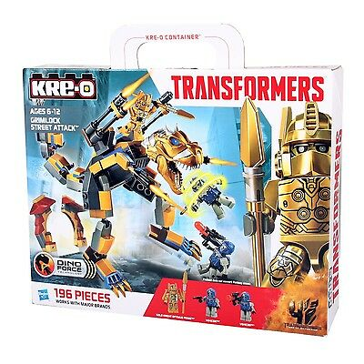 Hasbro KRE-O A6955 TRANSFORMERS Dino Force GRIMLOCK Street Attack Bausteine-Set