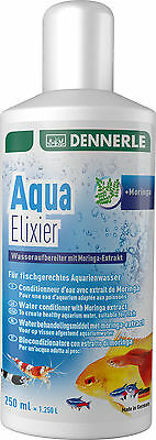 Dennerle Aqua Elixir Tap Safe Water Conditioner Moringa Extract 250ml Chlorine