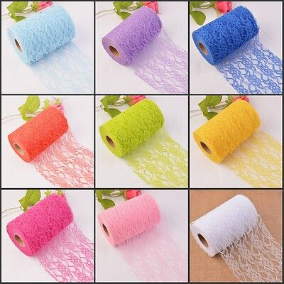 Lace Tulle Roll 1025Y 15cm  Wedding Chair Sash Vintage Style Floral Party Bows