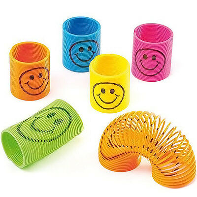 12x Slinky Smiley Mini Springs Party Bag Fillers Wedding Kids Toy Hotsell