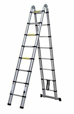 New A Frame Aluminium Folding Telescopic Safety Ladders Extendable Ladders