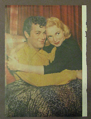 Tony and Janet Curtis Vintage Magazine Photo Rare 1940's