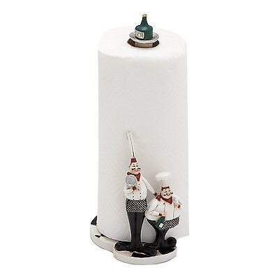Woodland Imports 69498 Polystone Chef Paper Towel Holder