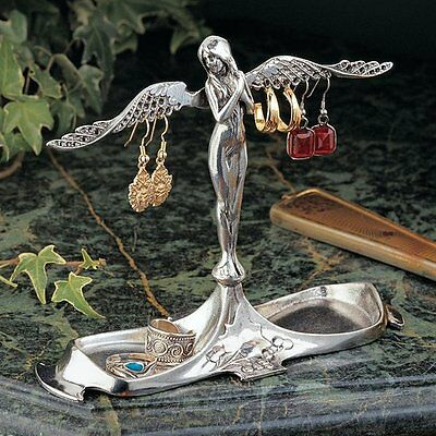 Design Toscano PA8961 Art Nouveau Angel-in-Waiting Italian Pewter Jewelry Holder