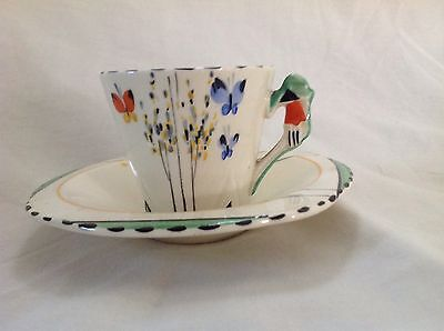 Burleigh Ware Rare Butterfly Coffee Cup & Saucer Very Good Condition First
