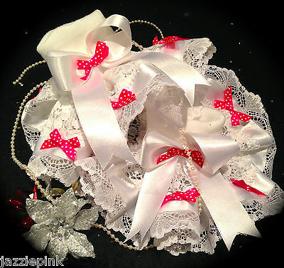 Dream Ruffle White Frilly Lace Ankle Socks Tutu Polka Bows Jazziejems Boutique❤️