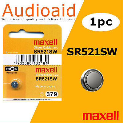 1Pc Sr521Sw (379) Genuine Maxell Silver Oxide Battery - Made In Japan (Not Fake)