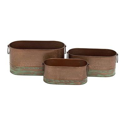 Woodland Imports 22139 Simply Appealing Metal Planters (set of 3)