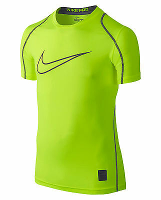 2fc9ec48 NIKE BOY'S PRO Cool HBR Fitted Volt Yellow T-Shirt 726463 - $18.80 ...