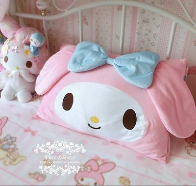 Kawaii Bowknot My Melody Kitty Face Pillow Case Cover Home Decor Cute