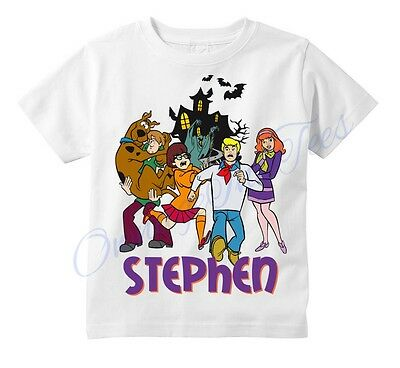 Scooby Doo Haunted Mansion Custom t-shirt Personalize Birthday gift Add NAME