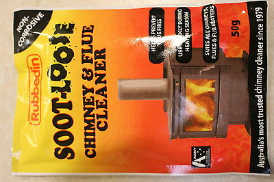 10 x Soot Loose Soot-Loose Chimney Flue Fireplace Cleaner Organic Solvent 50g
