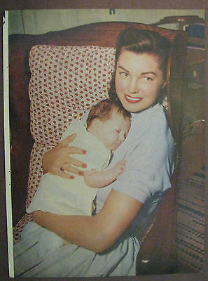 Esther Williams and Daughter Vintage Magazine Photo Rare 1940's