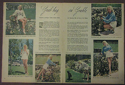 Betty Grable Vintage Magazine Photos Rare 1950's