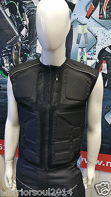 New Black 3M Reflective Rubber Armour Summer Mesh Cordura Motorcycle Biker Vests