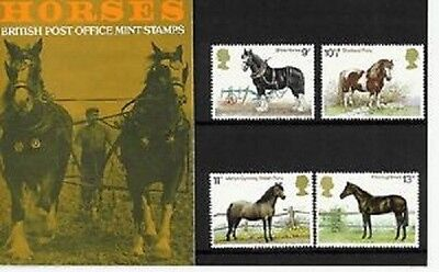 Mint 1978 Gb Horses Presentation Pack Of Muh Stamps