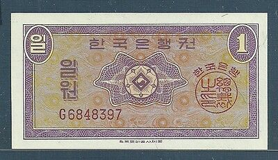 Korea 1 Won, 1962, P 30a, UNC