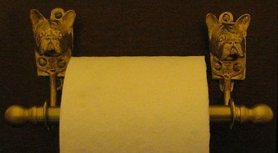 FRENCH BULLDOG, FRENCHIE Toilet Paper Holder OR Paper Towel Holder!