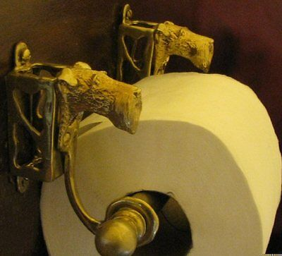 IRISH TERRIER Bronze Toilet Paper Holder OR Paper Towel Holder!
