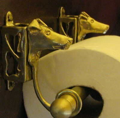 SMOOTH FOX TERRIER Bronze Toilet Paper Holder OR Paper Towel Holder!
