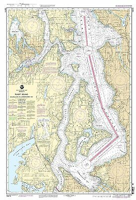 NOAA Chart Puget Sound-ShilsHole Bay to Commencement Bay 9th Edition 18474
