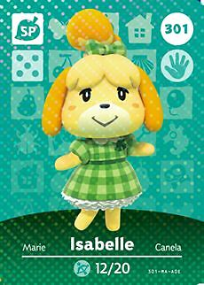 Amiibo Cards 301 ISABELLE Series 4 Animal Crossing Happy Home Designer NA/US