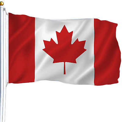 New 3'x5' Polyester CANADA FLAG Canadian Country Maple Leaf Outdoor Grommets