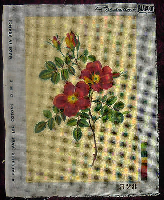 Tapestry Creations Margot Canvas Flowers  No Wools Reds Yellows & Greens Etc