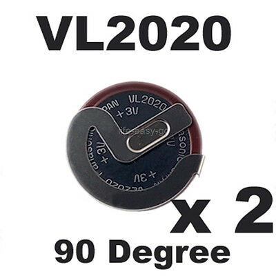 2x Genuine VL2020 Battery for BMW MINI Remote Key Fob E46 X3 X5 Z4 for Panasonic
