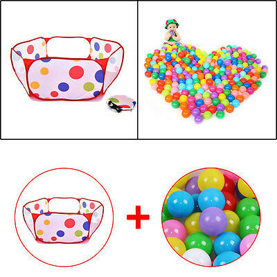 50pcs Soft Plastic Ocean Ball Pool for Baby Kid Pit Swim Outdoor Secure Fun toy