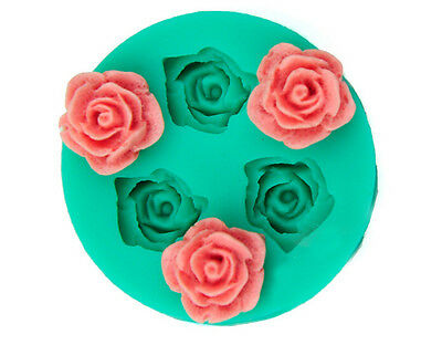 3D  Flower Silicone Chocolate Fondant Cake Candle Soap Molds Moulds
