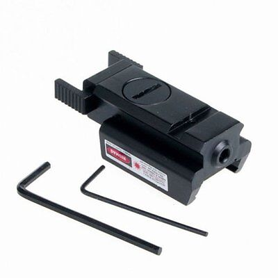 Mini Tactical Picatinny Weaver Rail Low Profile Red Dot Laser Sight For Pistol
