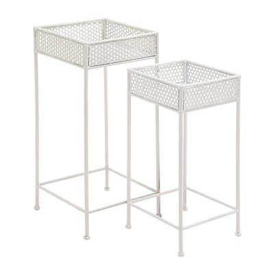 Woodland Imports 96992 Beautiful Styled Metal Plant Stands (set of 2)