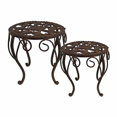 Selectives 12851884 Martha Plant Stands (Set of 2)