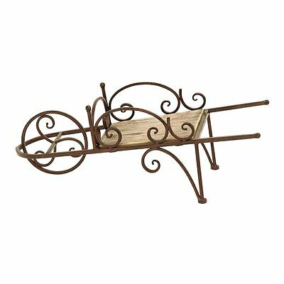 Woodland Imports 66557 Country Wheelbarrow Themed Plant Stand
