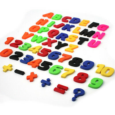 Fridge Magnets Alphabet Colorful Kids Strong Large Magnetic Letters And Numbers