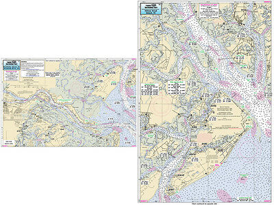Fishing Map Hilton Head Island SC HH371-BC South Atlantic