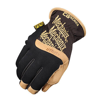 Hard-Wearing Mechanix Construction Grade Cg Utility Gloves - Black/tan