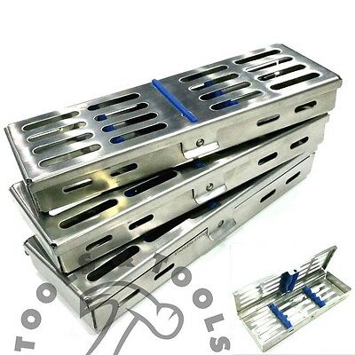 3 Pcs Set Sterilization Cassette Rack Tray Hold 5 Dental Instruments Autoclave