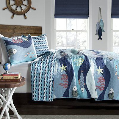 Lush Decor C21897P14-000 Sealife 3-Piece Quilt Set