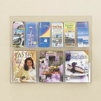 Safco 5666CL Display Magazine Rack, Clear