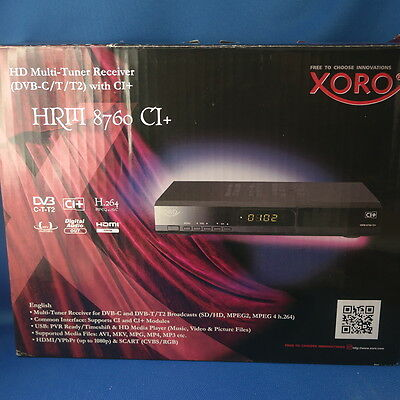 Xoro HRM 8760 CI+ HDTV-Kabel & DVB-T Receiver HDMI USB Media Player MKV MP3 OVP