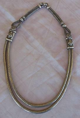 """Very attractive, very wearable Asian Silver alloy necklace 4.6 oz 19"""" long"""