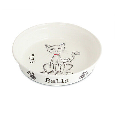 Personalised Doodles Cat Bowl